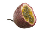 cut of  Passion fruit isolated