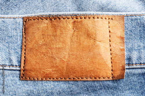 Blue jeans background - 206819421