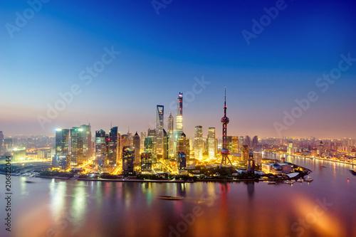 Fotobehang Shanghai the cityscape of modern city