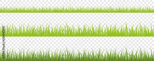 grüne wiese hintergrund 3er Set - 206840695