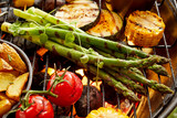 Healthy fresh vegetables grilling on a BBQ - 206842429