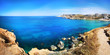 Leinwanddruck Bild - Colorful panorama at Ghajn Tuffieha, Malta