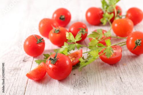 Fotobehang Kersen delicious cherry tomato