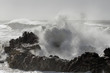 Leinwanddruck Bild - Big sea wave splash