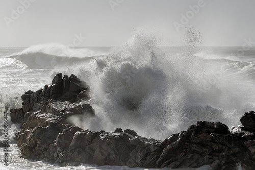 Leinwanddruck Bild Big sea wave splash