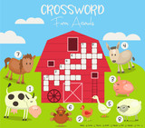 Colorful Crossword in English - 206867624