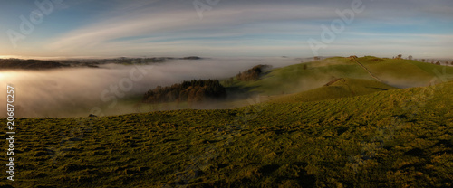 Aluminium Donkergrijs Misty landscapes