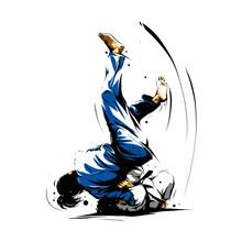 Judo Action 6 Sticker
