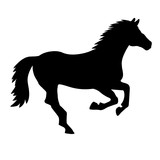 Galloping horse silhouette - 206879456