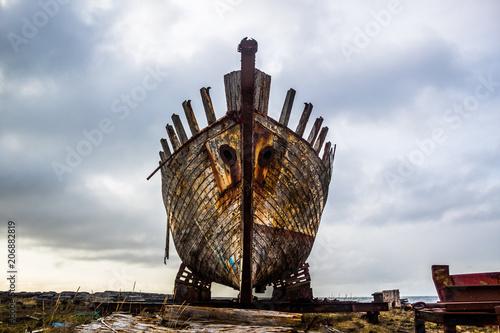 Fotobehang Schipbreuk boat