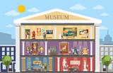 Museum city building. - 206885874