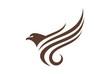 eagle fly graphic vector logo