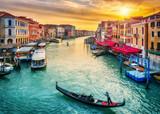Gondola near Rialto Bridge in Venice, Italy - 206896660