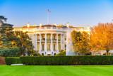 The White House illuminated by evening sun, Washington DC - 206897246