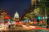 Pennsylvania Avenue and Capitol at night, Washington DC, USA - 206897282