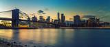 Brooklyn bridge and Manhattan after sunset, New York City - 206897839