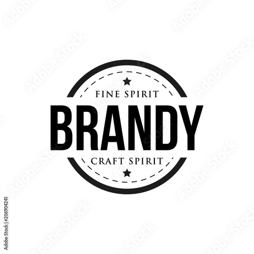 Brandy vintage retro stamp