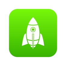 Rocket Design Icon Green     Sticker
