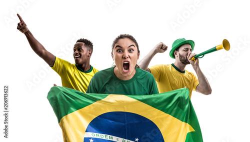 Brazilian fan friends celebrating