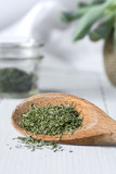 Dried Dill on Wood Spoon - 206913808