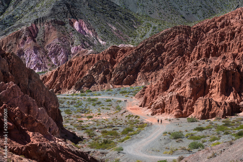 Fotobehang Diepbruine Andes mountains full of colours