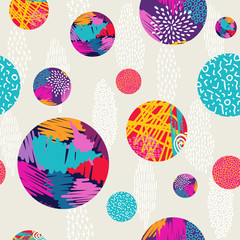 Abstract hand drawn colorful pattern background © cienpiesnf