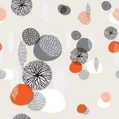 Abstract boho hand drawn seamless pattern © cienpiesnf