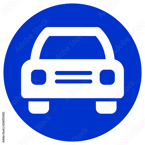 Fridge magnet car circle blue icon design