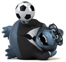 Fun Gorilla  3d Illustration Sticker