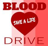 blood drive save a life design - 206942066