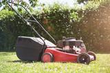 Red Lawn Mower Garden - 206954005