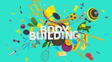 Body Building Concept Sticker