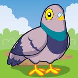 Pigeon cartoon, Cute animal, Cute vector