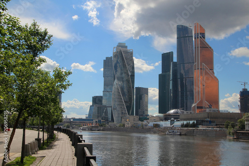 Fotobehang Moskou Moscow-City business center, Russia