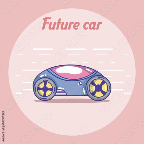 Fotobehang Auto Future car vehicle concept