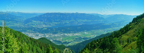 Fotobehang Blauw Panorama