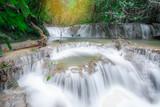 Huay Mae Kamin Waterfall , Srinakarin Dam National Park , Kanchanaburi province,Thailand.