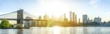 New York City, Manhattan, Skyline mit Brooklyn Bridge - 206977889