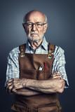 portrait of senior at work - 206993666
