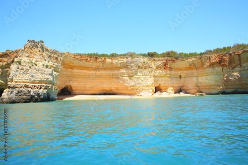 Scenic coast in Algarve, Portugal