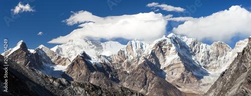 Leinwanddruck Bild Cho Oyu from Kongma La pass, Khumbu valley