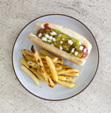 Hot Dog and French Fries - 207004427