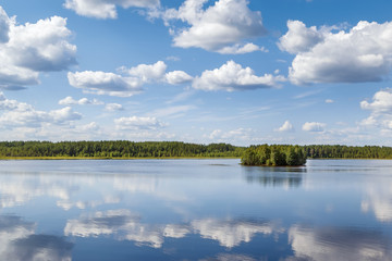 Landscape on the river Vyg, Russia