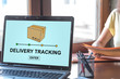Delivery tracking concept on a laptop screen