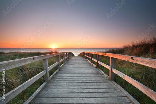 Leinwandbild Motiv Erholung an der Küste