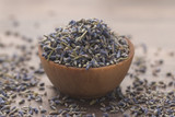 Dried Lavender in a Wooden Bowl - 207030497