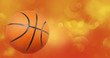Basketball on abstract background