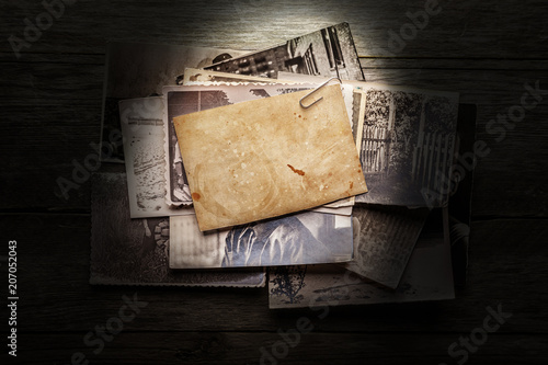 Vintage blank photo - 207052043