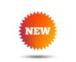 New sign icon. New arrival star symbol. Blurred gradient design element. Vivid graphic flat icon. Vector
