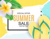 Abstract Vector Illustration Summer Sale Background - 207056893